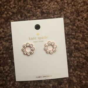 Kate spade full circle rose gold earrings